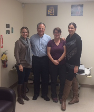 The team in Terrace includes (l to r): Rai Read, Dr. Brookstone, Anita Zeigler, and Jen Vendittelli