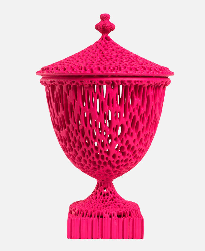 """""""The Wedgwoodn't Tureen"""" in Neon Pink."""