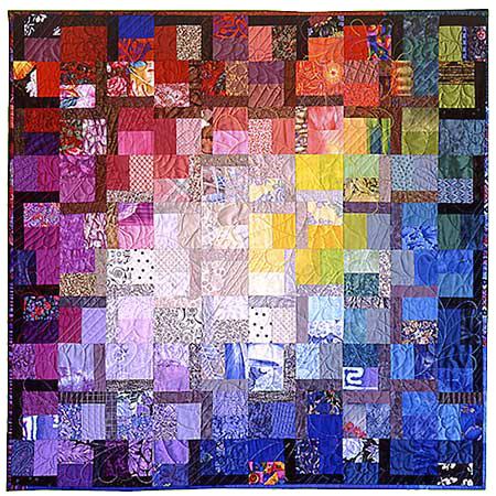 "Artistic Quilt ""Saffron"" by Melody Crust"