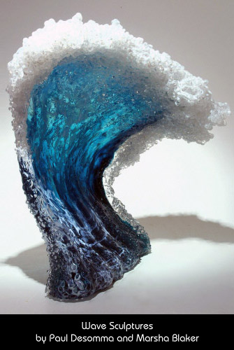 Wave Sculpture by Paul DeSomma and Marsha Blaker