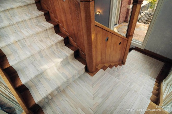 Beckwith Interiors Pool House - The floors are all fabulous!