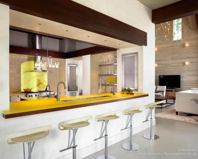 Beckwith Interiors Pool House - Full Service Kitchen for Entertaining
