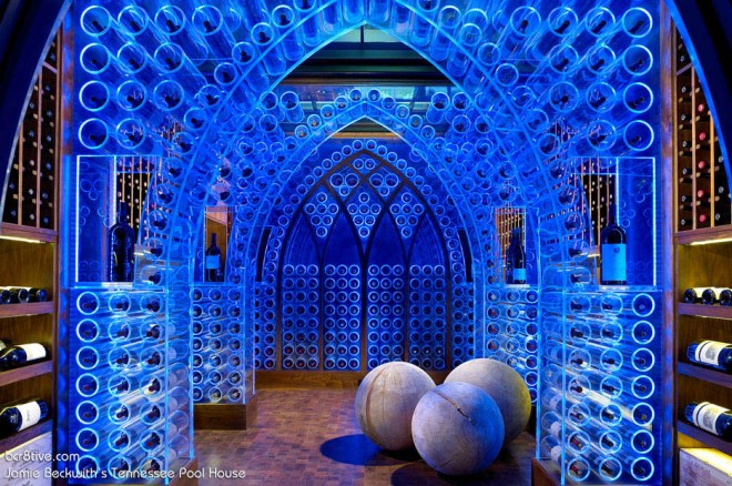 Beckwith Interiors Pool House Wine Cellar