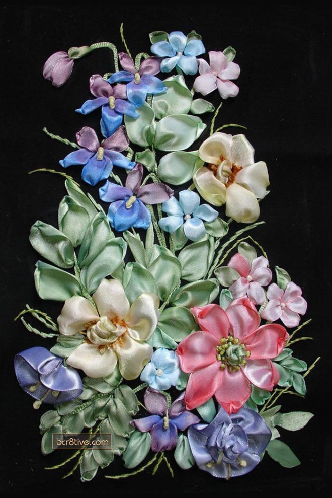 Ribbon Embroidery by Lusi
