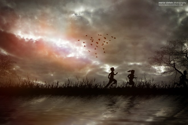Children Running by Marco Ciofalo