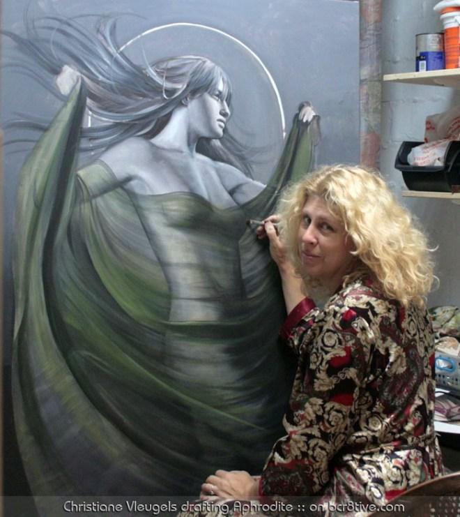 Christiane Vleugels drafting Aphrodite
