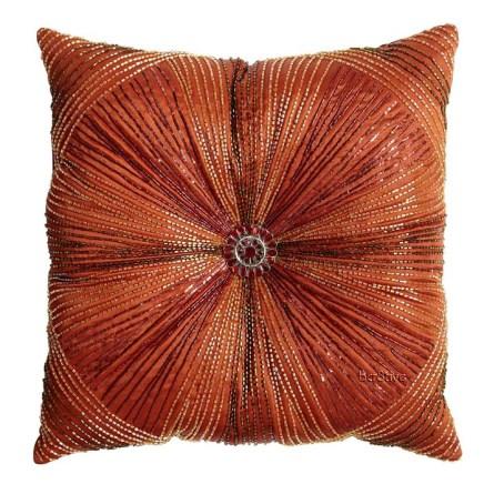 Beaded Sunburst Pillow