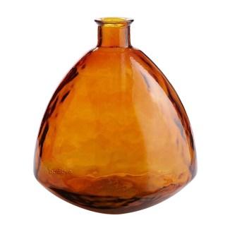 Recycled orange glass vase