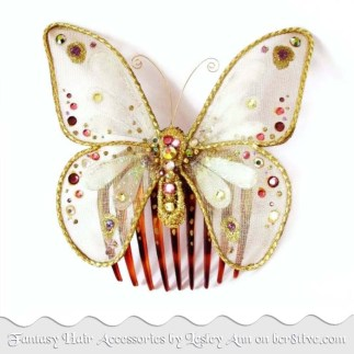 Gold Butterfly Hair Accessory by Lesley Ann