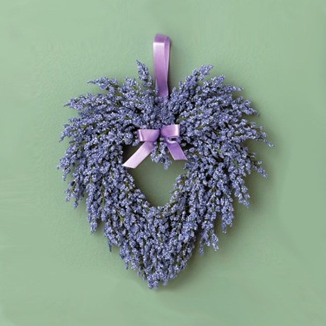 Handmade Heart Shaped Lavender Wreath by Cottage Little Details on Etsy