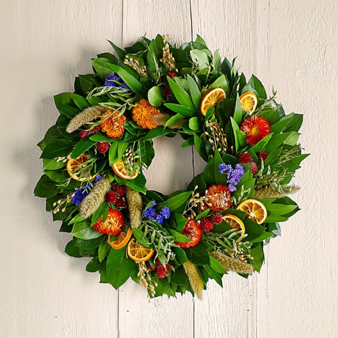 Citrus Floral Wreath from Williams Sonoma