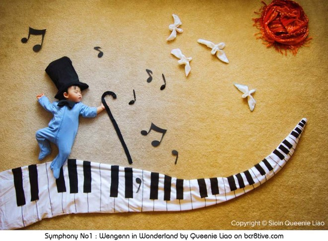 Symphony No1 - Creative Baby Photography by Sioin Queenie Liao