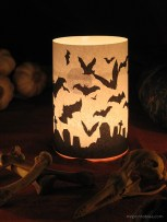 DIY Halloween Candle Wrapper