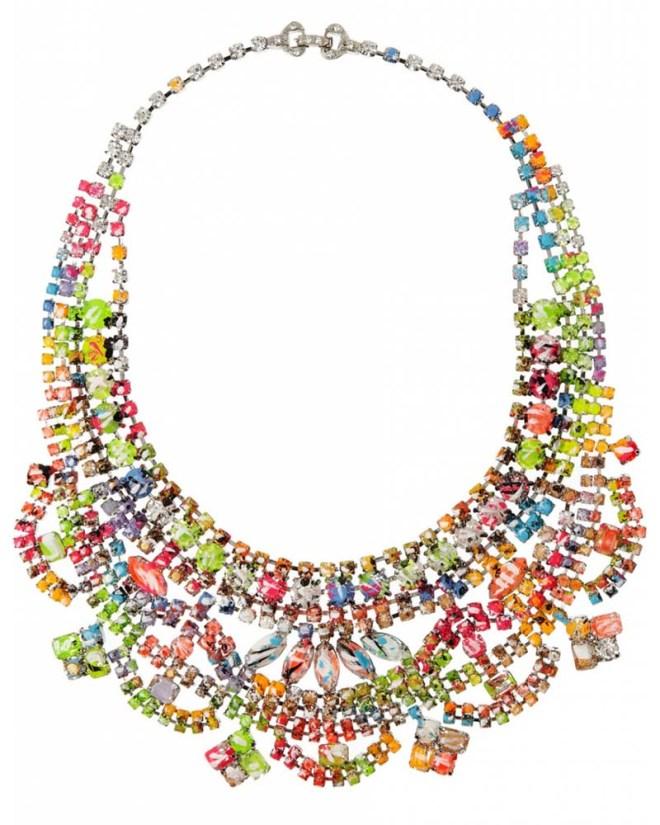 Tom Binns Designs - A Riot of Color Glow-in-the-Dark Swarovski Crystal Necklace
