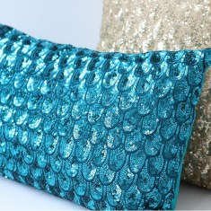 Pyar & Co Pompano Pillow - Turquoise