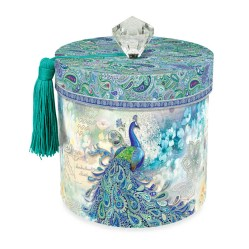 Toilet Tissue Holder In Paisley Peacock
