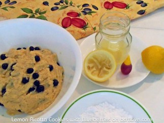 Lemon Ricotta Cookie Batter and Icing Ingredients