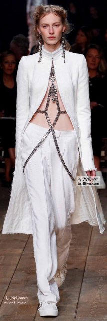 Suit with Body Chains - The Best of Alexander McQueen 2016