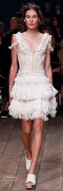 Hoboish Knit Ruffled Skirt - The Best of Alexander McQueen 2016