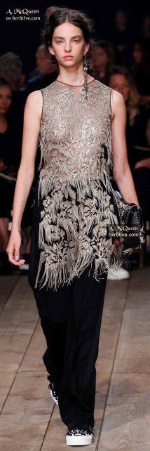 Alexander McQueen Metallic-Chain Embellished Tunic