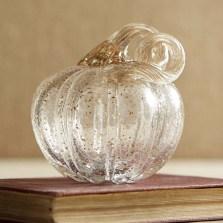 Glimmering Champagne Petite Glass Pumpkin