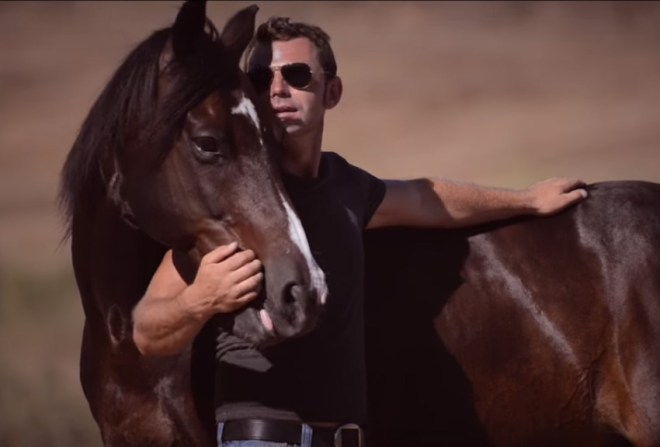 Miron Bococi & his Horse