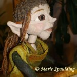 Needle felted elf