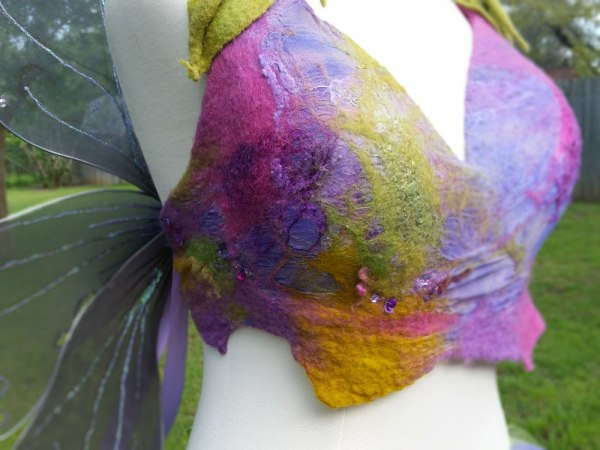 "Art Bra ""Garden Fairy"" closeup detail"