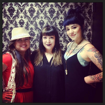 Art Bra artists from Dolce Austin -- MJ Escribano, Cris Coleman and Brittany Craig