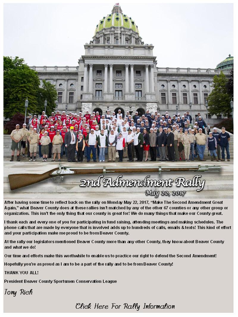 2017 2nd Amendment Rally PA Capital Steps