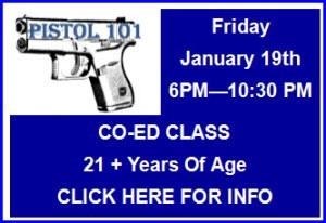 Pistol 101 Class January 2018