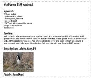 Wild Goose BBQ Sandwich