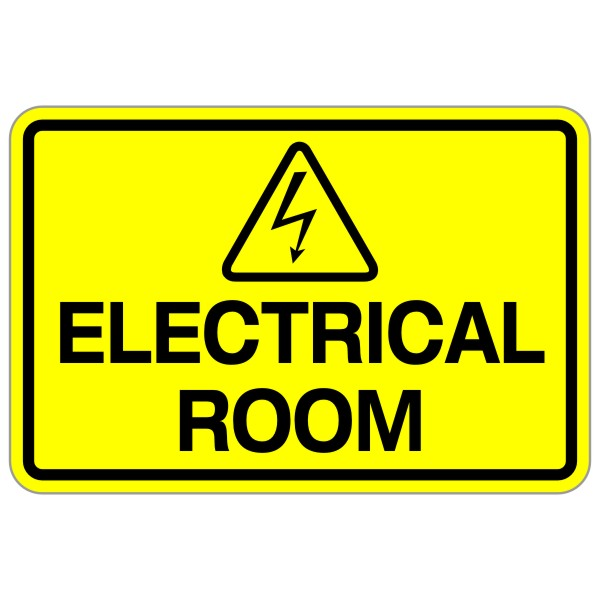 """electrical Room"" 12″ X 18″ Safety Sign  Bc Site Service"