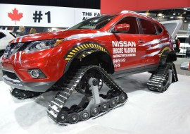 Now that's a snow mobile!
