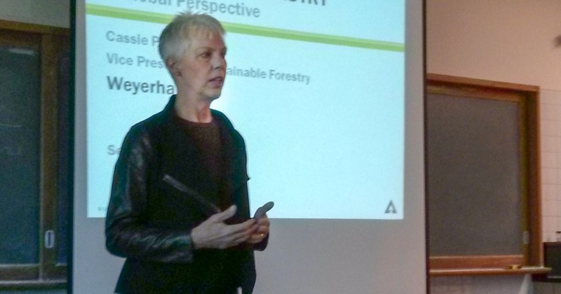 Cassie Phillips speaks about sustainable forestry