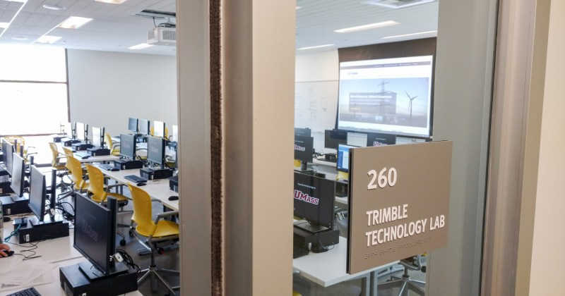 New Trimble Technology Lab Gift to UMass Amherst Expands Training and Research for Building Design and Fabrication