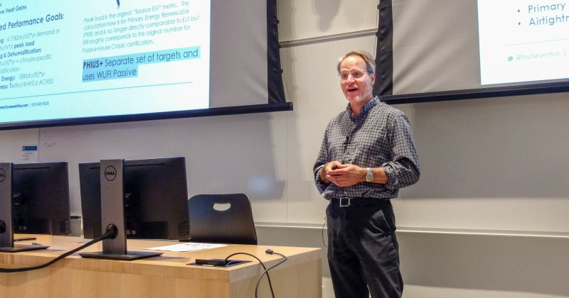 475's Oliver Klein lectures on materials for passive house construction