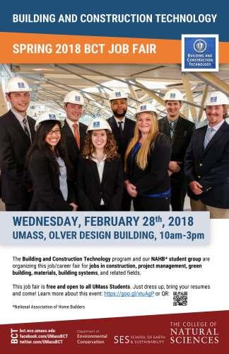 BCT Spring 2018 Job Fair @ Design Building Atrium & Room 170 | Amherst | Massachusetts | United States