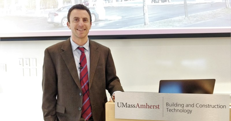 Ezra Small speaks about UMass Amherst's sustainability efforts
