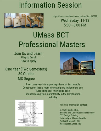 Information Session about the Professional Masters in BCT @ VIRTUAL