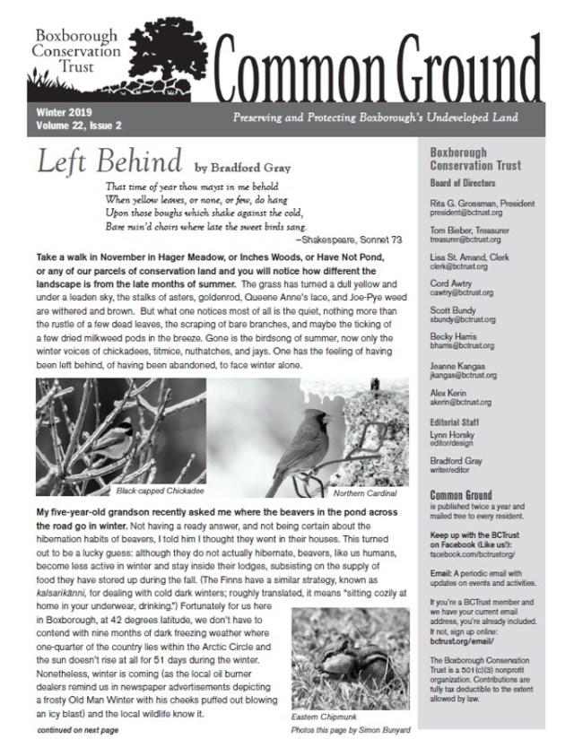 Common Ground Dec 2019 1st page