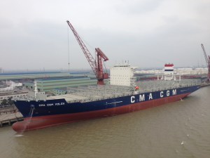 CMA CGM Volga with second BOSS system installed.