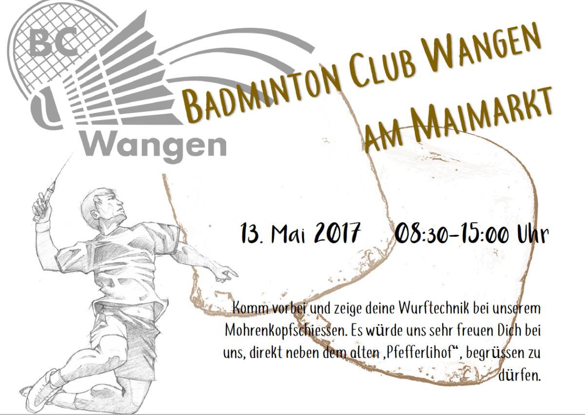 Besucht uns am Maimarkt am 13.05.2017