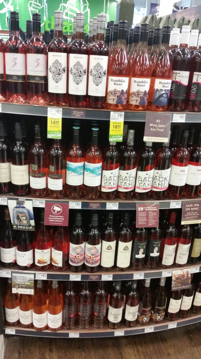 Rosé display at save-on-food