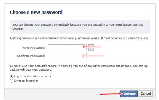 Choose a new password