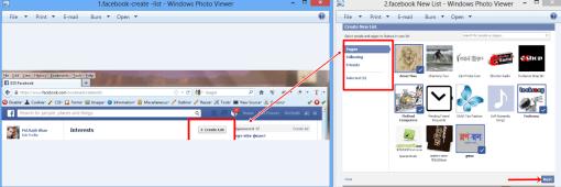 Facebook-create-list