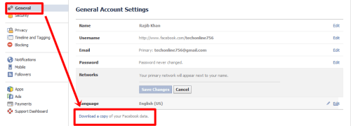 Facebook-download- data