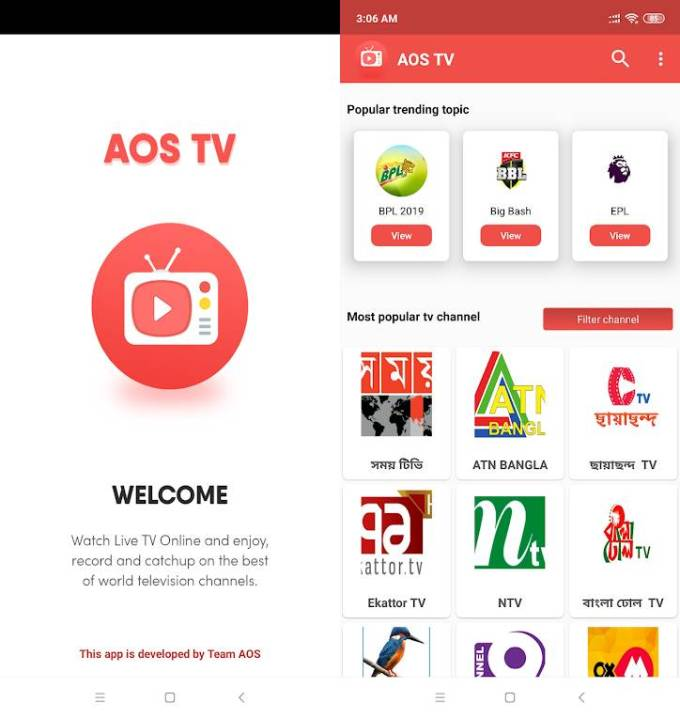 AOS Mobile TV