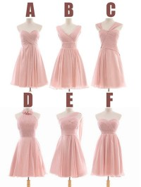 Peach Bridesmaid Dress, Short Bridesmaid Dress, Bridesmaid ...