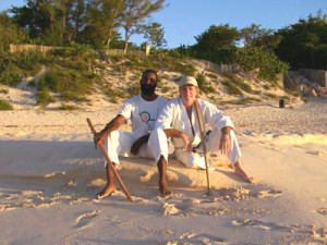 Sensei Smith and Shihan Rick Stickles in Bermuda